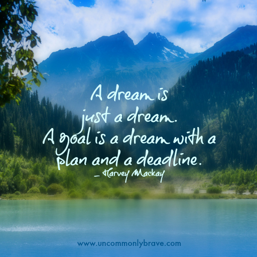 A Goal is a Dream with a Plan and a Deadline